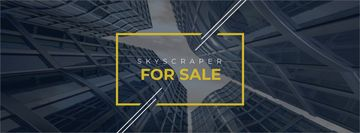 Skyscrapers for sale in yellow frame