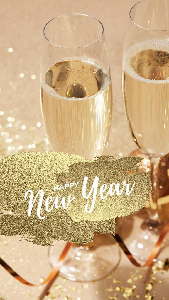 New Year Party Champagne in Glasses — Crear un diseño