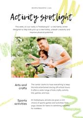 Activity Spotlight with Father and son on Bicycle