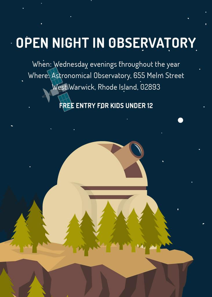 Open night in Observatory event — Crear un diseño