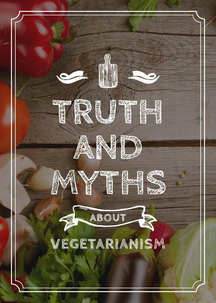 Truth and myths about Vegetarianism — Créer un visuel