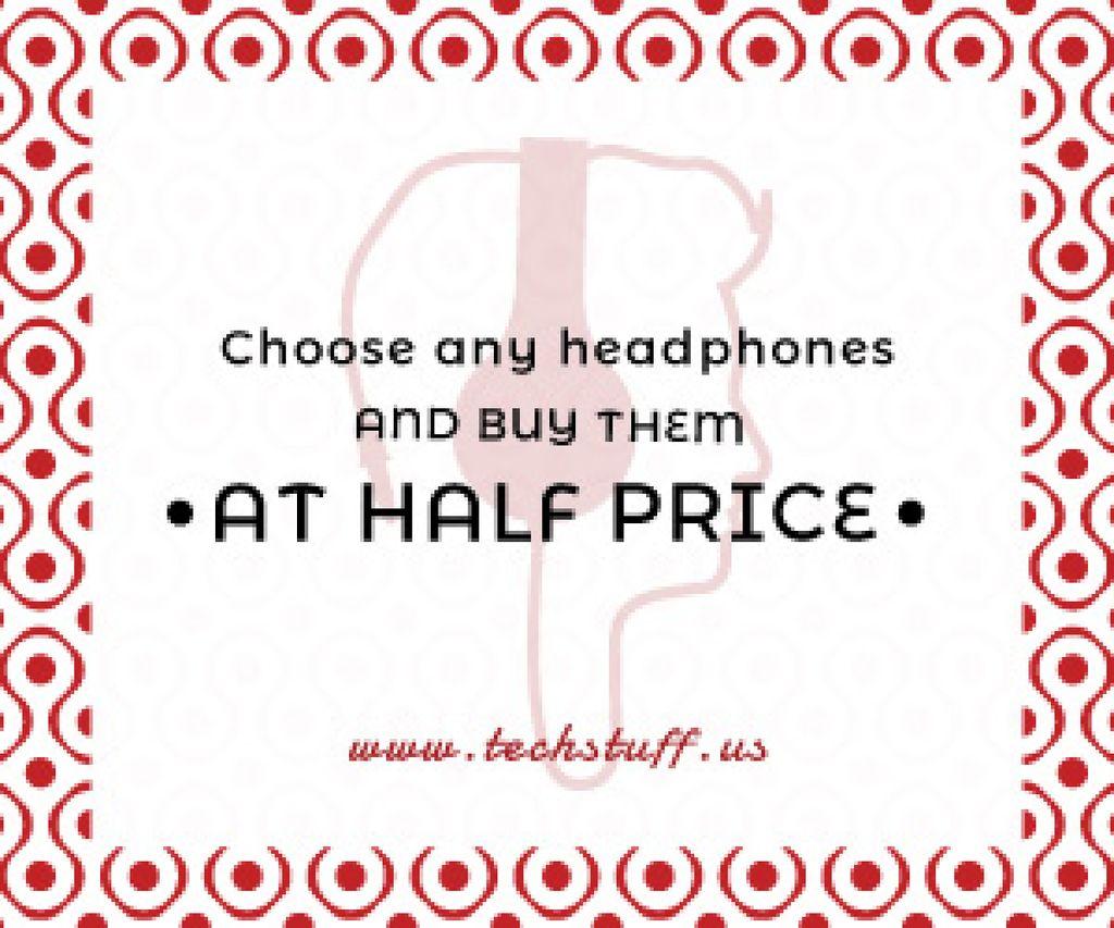 Headphones sale advertisement — Modelo de projeto