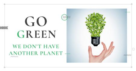Plantilla de diseño de Citation about green planet Facebook AD