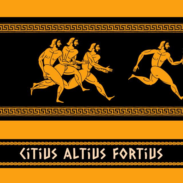 Plantilla de diseño de Ancient Marathon Race Athletes Animated Post