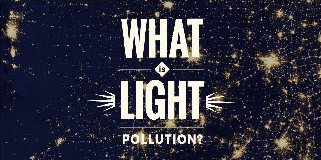 light pollution poster — Crea un design
