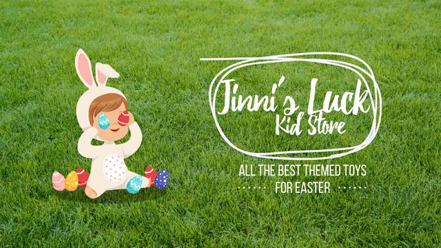 Plantilla de diseño de Easter Offer Kid in Bunny Costume Full HD video