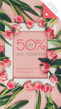 Valentine's Day Offer Tulip Flowers Frame