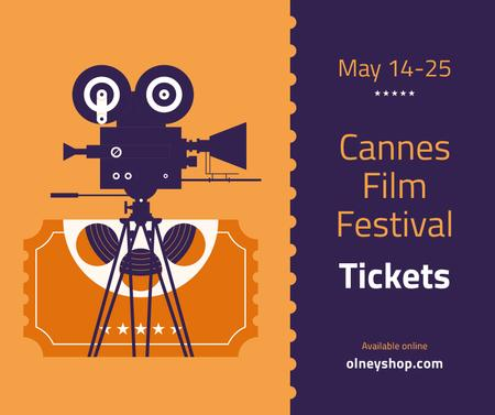 Plantilla de diseño de Cannes Film Festival tickets offer Facebook