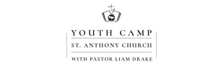 Youth religion camp of St. Anthony Church Email header Modelo de Design