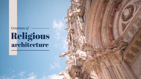 Old Cathedral Building Presentation Wide Tasarım Şablonu