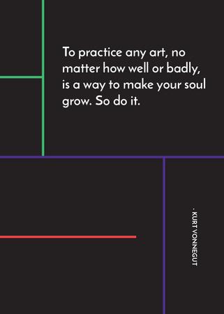 Plantilla de diseño de Art Quote in Linear Geometric Frame Invitation