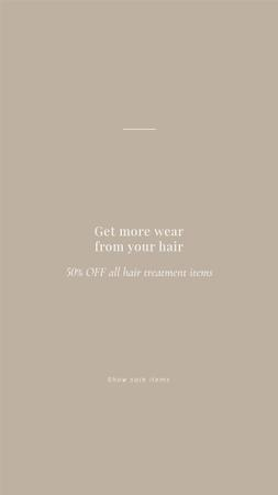 Modèle de visuel Hair Treatment Special Offer - Instagram Story