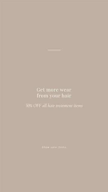 Hair Treatment Special Offer Instagram Story – шаблон для дизайну