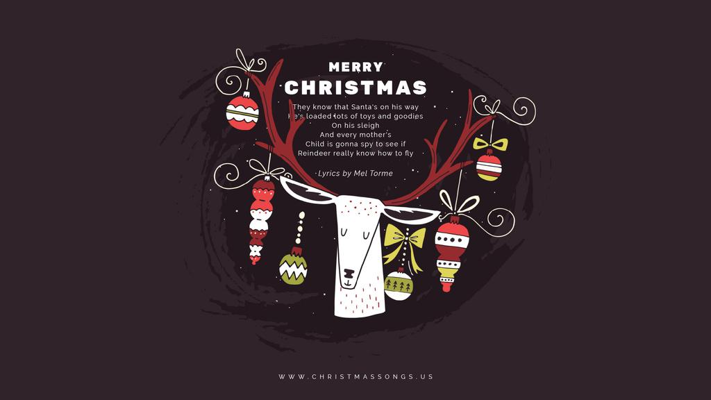Christmas deer with baubles — Modelo de projeto