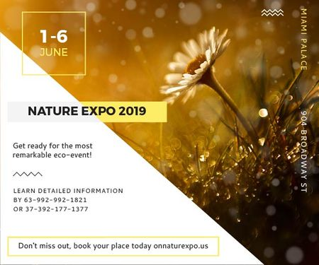 Nature Expo 2019 Medium Rectangle Tasarım Şablonu