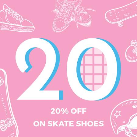Skate Shoes Sale Advertisement Instagramデザインテンプレート