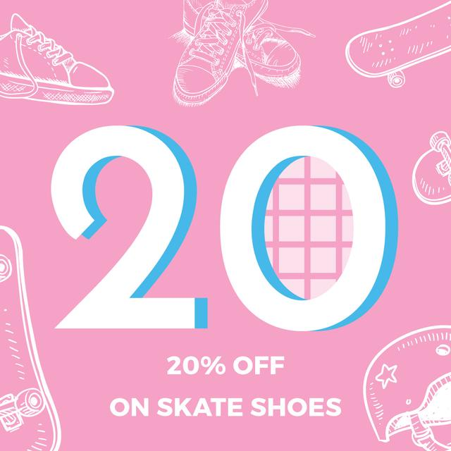 Template di design Skate Shoes Sale Advertisement Instagram