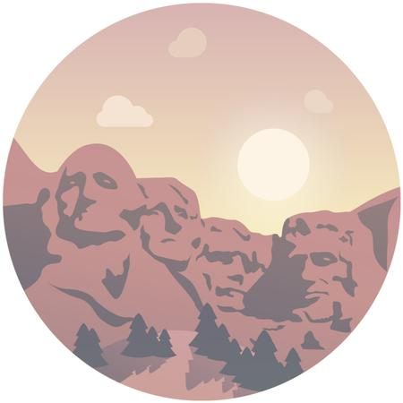 Mount Rushmore Travelling spot Animated Post Modelo de Design