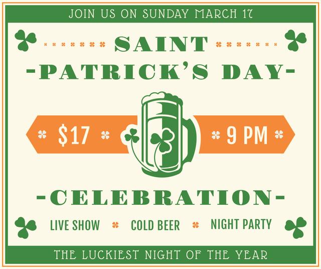 St. Patrick's day greeting card Facebook Modelo de Design