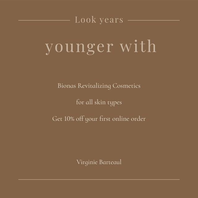 Plantilla de diseño de Scincare products Offer in brown background Instagram
