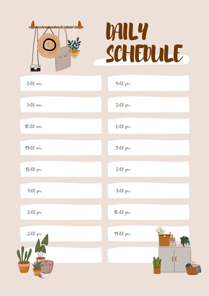 Daily schedule with Cozy interior – Stwórz projekt