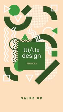 Design Courses ad on abstract Pattern