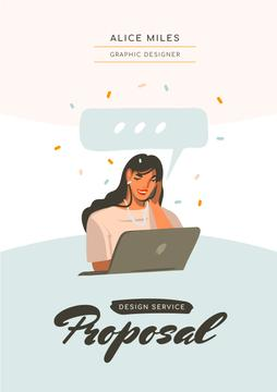 Designer Services offer with Woman by Laptop