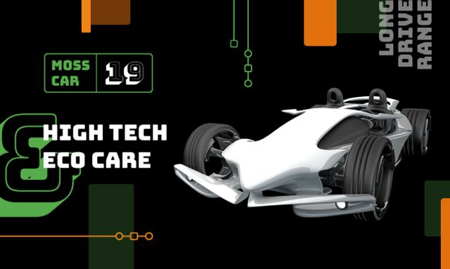 Product Hunt Launch Ad with Sports Car Gallery Image – шаблон для дизайна
