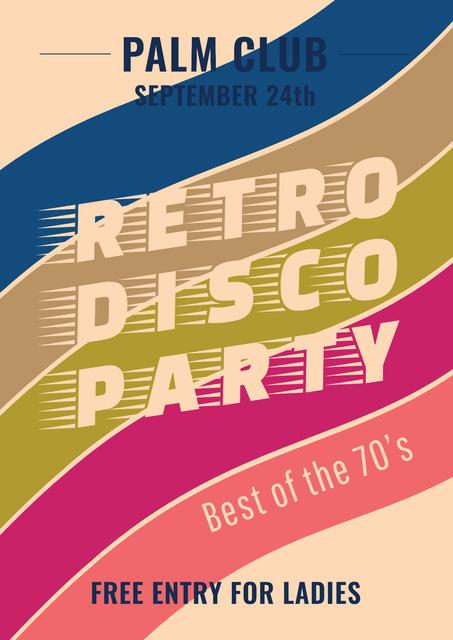 Modèle de visuel Retro Disco Party Announcement - Poster