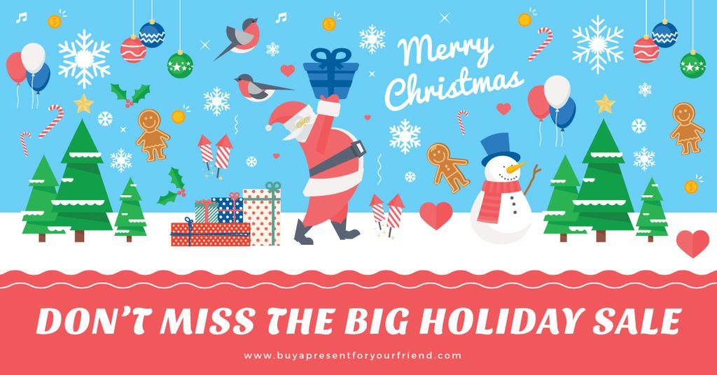Christmas sale card — Créer un visuel