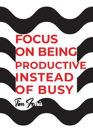 Plantilla de diseño de Citation about productivity for everyone Poster