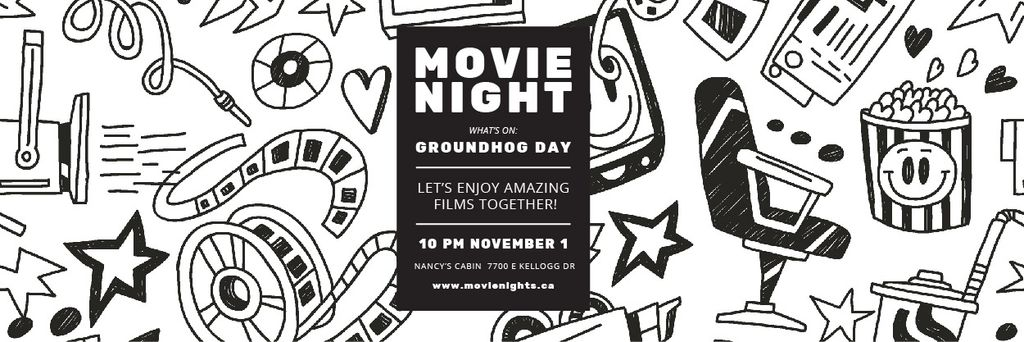 Movie night event — Créer un visuel
