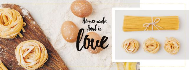 Plantilla de diseño de Cooking Italian pasta Facebook cover