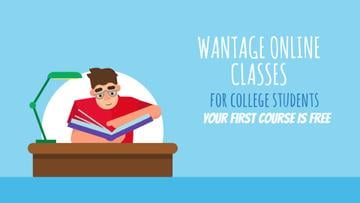 Education Courses Ad Smart Student Rising Hand