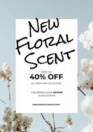 Plantilla de diseño de Perfume Offer with Flowers Poster