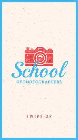 Photo School Ad Stamp of Camera Instagram Story Modelo de Design