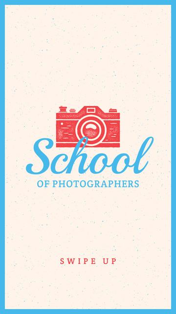 Modèle de visuel Photo School Ad Stamp of Camera - Instagram Story