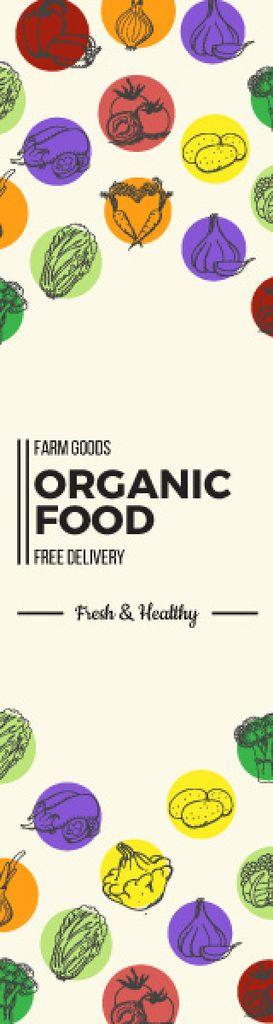 Organic food delivery banner — Modelo de projeto