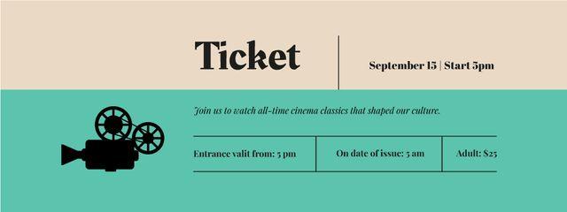 Silhouette of Movie Projector Ticket – шаблон для дизайна