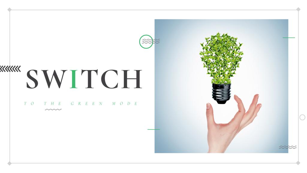 Eco Technologies Concept Light Bulb with Leaves — Maak een ontwerp