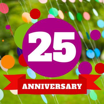Anniversary celebration Announcement on Colourful Bubbles