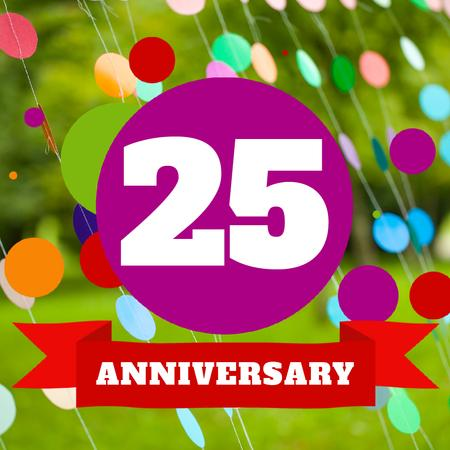 Plantilla de diseño de Anniversary celebration Announcement on Colourful Bubbles Animated Post
