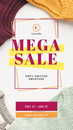 Template di design Special Sale with Colorful Sweaters Instagram Video Story