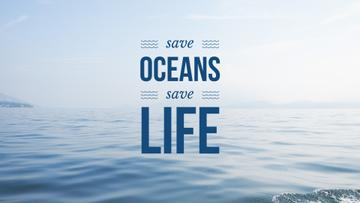 Ecology Quote with Ocean