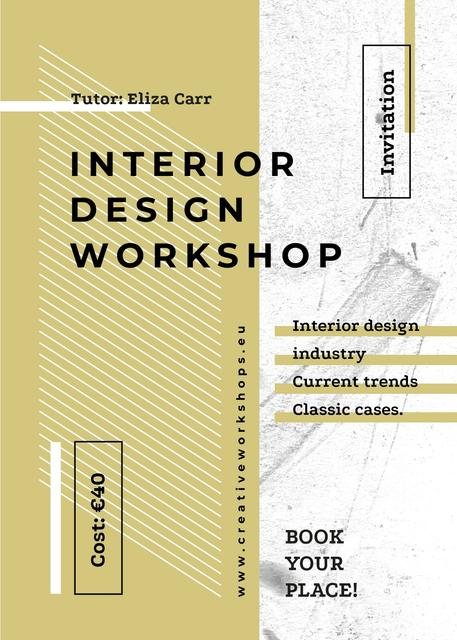 Design Workshop ad on geometric pattern Invitation Tasarım Şablonu