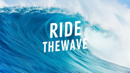 Plantilla de diseño de Curl of big wave Full HD video