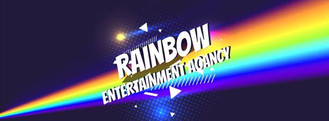 Ontwerpsjabloon van Facebook Video cover van Light spectrum with glowing triangle