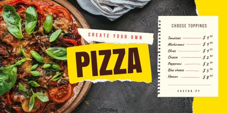 Italian Food Menu Delicious Pizza Image Modelo de Design