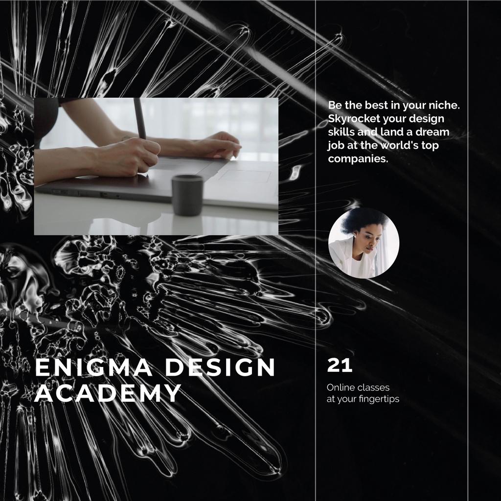 Man drawing in Design Academy — Créer un visuel