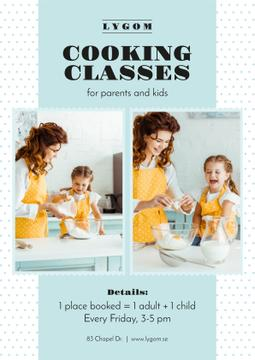 Cooking Classes with Mother and Daughter in Kitchen
